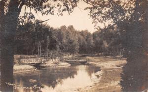 Fruitvale MI At Least Three Footbridges in City Park~RPPC 1923