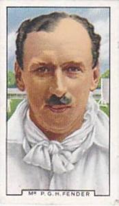 Gallaher Vintage Cigarette Card Sporting Personalities No 22 Mr P G H Fender ...