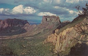Big Bend National Park TX, Texas - Casa Grande on Eastern side of Chisos Basin