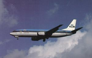 KLM Royal Dutch Airlines Boeing 737-406 in Flight, London Heathrow Airport, E...