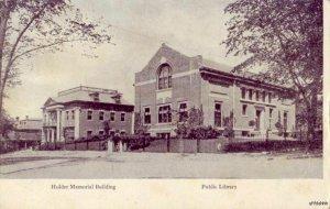PRE-1907 CLINTON, MA HOLDER MEMORIAL BUILDING PUBLIC LIBRARY