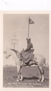RP: CASABLANCA, Morocco, Africa, 1920-1940s; Mounted Trooper Of Sultans