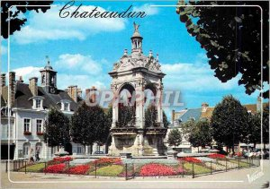 Modern Postcard Chateaudun (Eure et Loire) The Loir Valley La Place 18 Octobe...