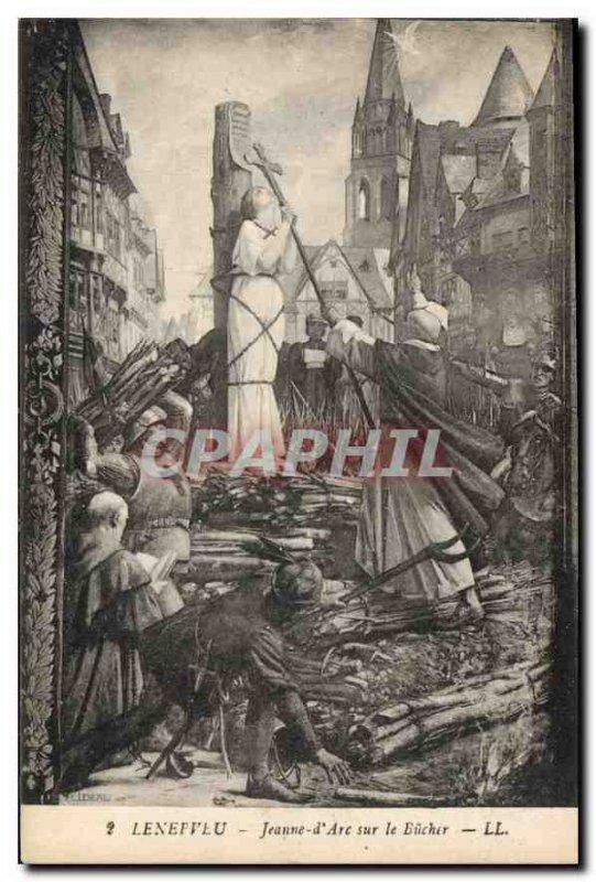 Old Postcard Lenepveu Joan of Arc on the Bucher