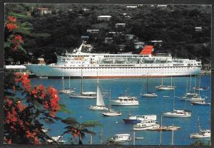 Cruise Ship, Cunard, Countess, mailed from Grenada