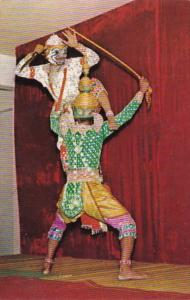 Thailand Bangkok Khon Dance The White Monkey Fighting The King Of Giant