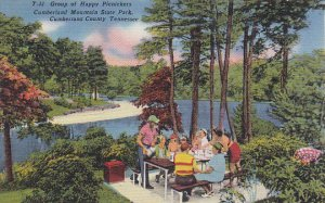 Happy Picnickers At Cumberland Mountain State Park Cumberland County Tennessee