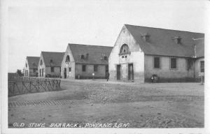 Pontanezen France Old Stone Barracks Real Photo Antique Postcard J50871