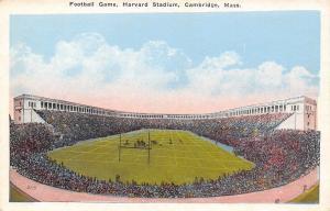 Cambridge Massachusetts~Football Game Harvard Stadium~1920 Postcard