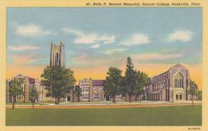 Belle H. Bennett Memorial, Scarritt College, Nashville, Tennessee, 30-40s