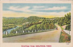 Ohio Greetings From Delphos 1948