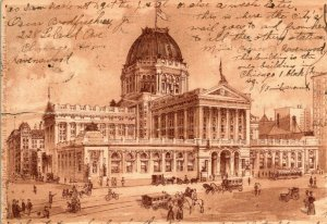 Vtg Postcard 1908 US Government Building and Post Office Chicago Illinois UDB