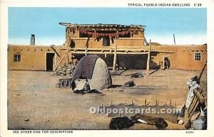 Typical Pueblo Indian Dwelling Indian Unused
