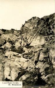 NH - Mt Monadnock. Last Hard Climb.     *RPPC