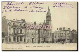 Old Postcard Bank Caisse d & # 39Epargne Temple Sedan
