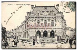 Old Postcard Bank Caisse d & # 39Epargne Saumur