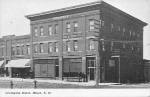 Minot ND~Lexington Hotel~Fire Destoryed 1960~Confectionary Shop~Olson Block~1907