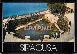 Postcard Modern Siracusa Fountain Arethusa