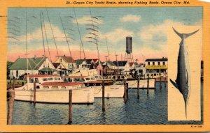 Maryland Ocean City Yacht Basin Showing Fishing Boats Curteich