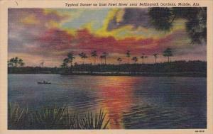 Alabama Mobile Typical Sunset On East Fowl River Near Bellingrath Gardens