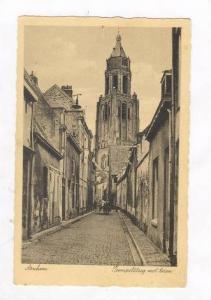 Arnhem, Trompetsteeg met toren, Netherlands, 1920s