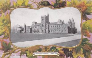 Maple Leaf Border PC: Provincial University, Toronto, Ontario Canada Pre-1907