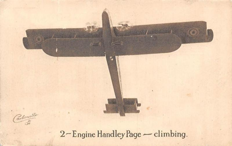 2-Engine Handley Page - climbing Carbonette