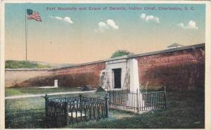 South Carolina Charleston Fort Mountrie And Grave Of Osceola Indian Chief