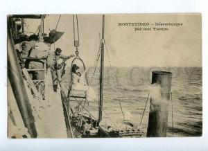 191009 Uruguay MONTEVIDEO ship landing MESSAGERIES MARITIMES