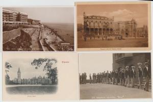 Lot of 4 UK Margate Rottingham rppc Bristol Chester vintage postcards