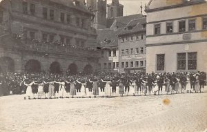 Old Fashioned Group Dancing Real Photo Hobby Unused