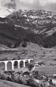 Switzerland Berne Rainbrueck bei Frutigen Real Photo