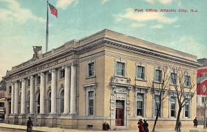 Post Office, Atlantic City, New Jersey, Early Postcard, Unused