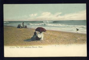 Salisbury, Massachusetts/Mass/MA Postcard, Salisbury Beach, The Surf