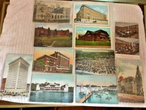 11 C1910 Postcards PORTLAND OR City and Building Views