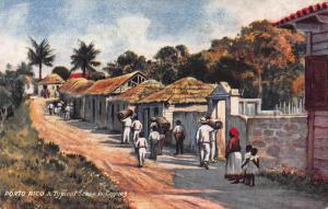A Typical Scene in Caguas, Puerto Rico, Early Tuck & Sons Postcard, Unused