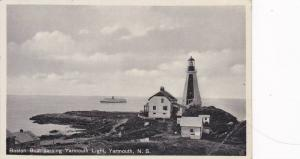 Boston Boat passing Yarmouth Lighthouse, Yarmouth,  Nova Scotia, Canada, 10-20s