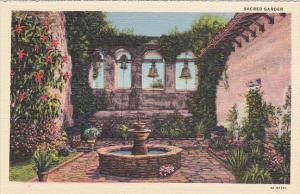 Sacred Garden Mission San Juan Capistrano California Curteich