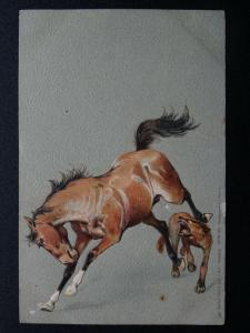 THE NOBLE HORSE Series (2) c1903 UB Embossed Postcard by Raphael Tuck 882