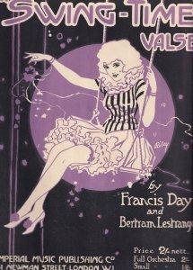 Swing Time Valse Francis Day Bertram Lestrange Olde Sheet Music