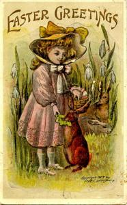 Greetings - Easter.   Artist Signed: Fred C. Lounsbury