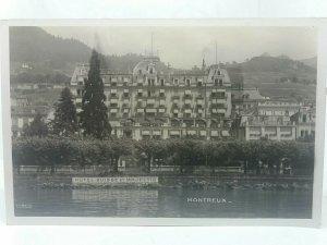 Vintage Postcard Hotel Suisse Majestic Montreux Switzerland