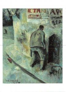 Art Postcard, Nocturnal Lane, Vicolo Notturno (1917) by Primo Conti BC8