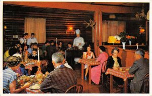 GATEWAY LODGE Dining Room Interior Radium Hot Springs, BC Canada c1950s Postcard