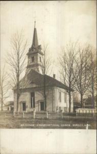 Shirley MA Orthodox Cong Church 1905 Real Photo Postcard