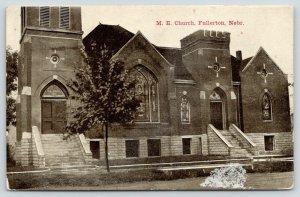 Fullerton Nebraska~ME Church~Beautiful Stained Glass Windows~c1910