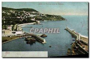 Old Postcard Nice Port of Entry Vue Prize du Chateau
