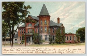 Ypsilanti Michigan~Cleary Business College~House Behind~1906Rotograph