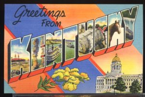 USA Postcard Large Letter Greetings From Kentucky