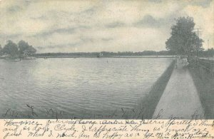 Jackson Tennessee Lancaster Park Lake View Vintage Postcard AA39303